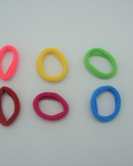 Setje baby haarelastiekjes regenboog