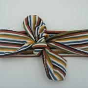 Wrap haarband autumn stripes