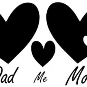 strijkapplicatie Dad me Mom