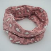 Handgemaakte colsjaal pink leopard