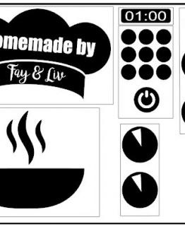 Keuken Sticker Set Homemade