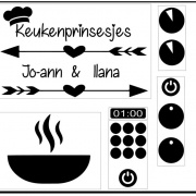 Keuken Sticker Set Prinsesjes