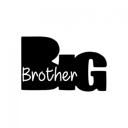 Strijkapplicatie Big brother silhouet