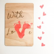 DIY houten bord with love