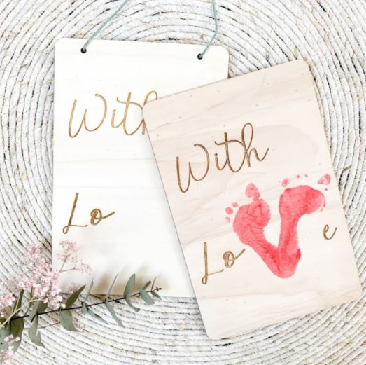 """DIY houten bord """"with love"""""""
