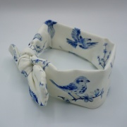 Wrap haarband blue birds