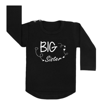 big sister arrows shirt zwart