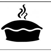 keukensticker taart