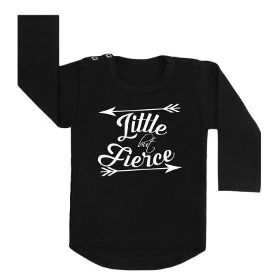 little but fierce shirt zwart