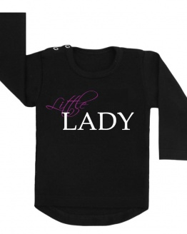 little lady shirt zwart