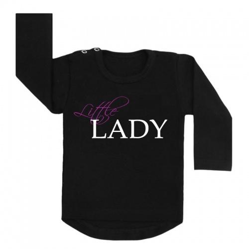 little lady shirt zwart