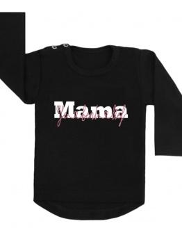 shirt zwart mama je bent lief moederdag