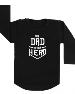 shirt zwart my dad is my hero vaderdag