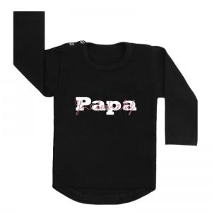 shirt zwart papa je bent lief vaderdag