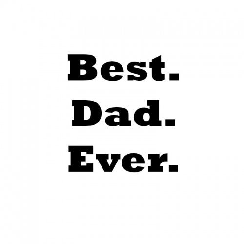 strijkapplicatie best dad ever vaderdag
