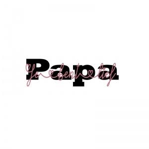 strijkapplicatie papa je bent lief