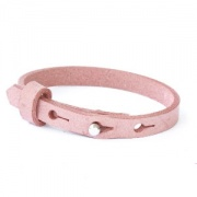 leren SOS armband all over pink