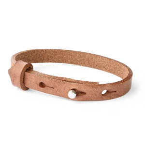 leren SOS armband herfstbruin