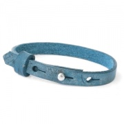 leren SOS armband all over blue