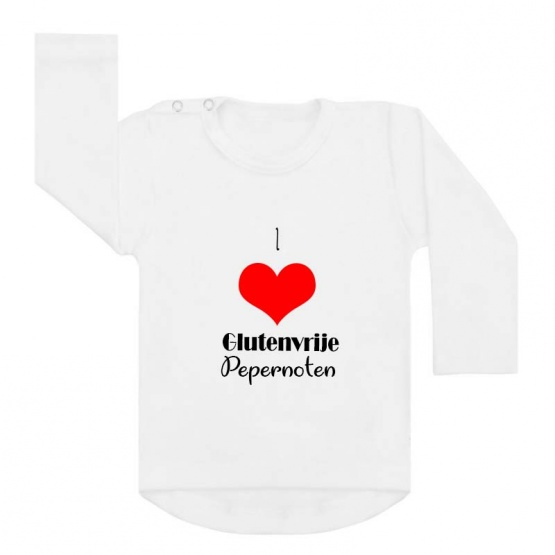 shirt I love glutenvrije pepernoten wit