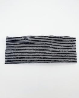 Handgemaakte colsjaal zwart grijs gestreept