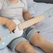 Little Dutch houten gitaar blauw met naam