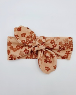 Wrap haarband coral flowers