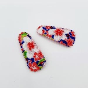 Baby haarspeldjes tropische bloemen