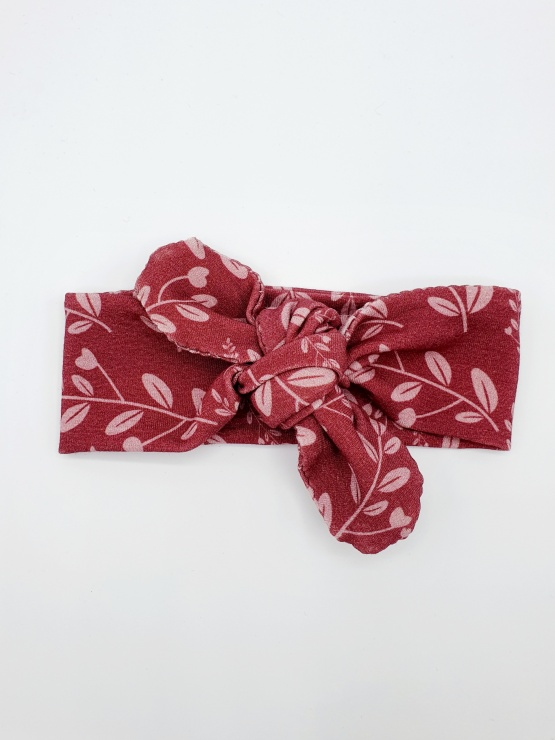 Wrap haarband pink leaves