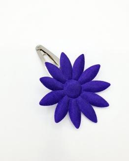 Zilver haarspeldje met paarse bloem