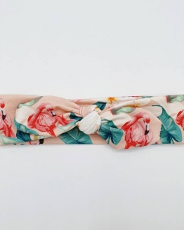 Wrap haarband tropical flamingo