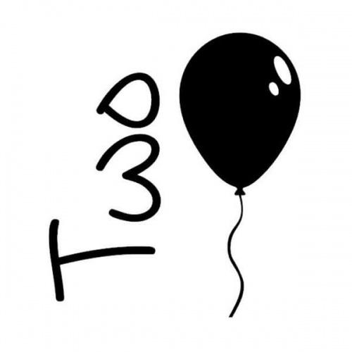 strijkapplicatie verjaardag twee ballon. De leukste strijkapplicaties voor verjaardagen! Maak een gaaf verjaardagsshirt met een afbeelding of een tekst met onze strijkapplicaties. Natuurlijk kan je de strijkapplicaties ook op een tas of op hout drukken.