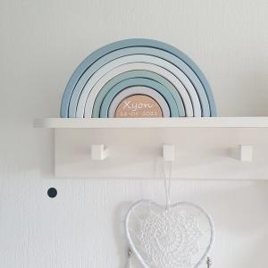 Little Dutch houten regenboog blauw met naam