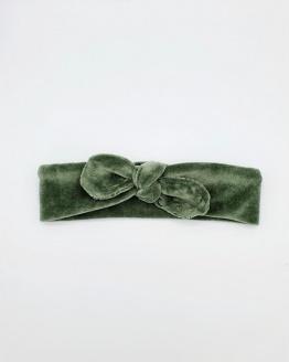 Wrap haarband velvet groen