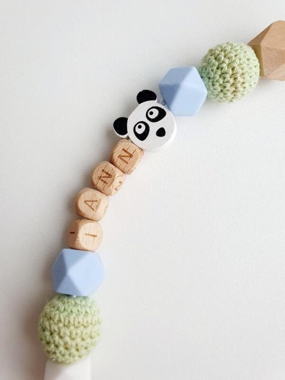 Gepersonaliseerd speenkoord panda