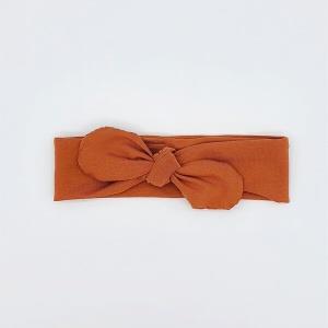 Stoffen haarband herfstbruin