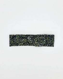 Stoffen haarband khaki leopard