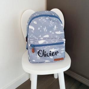 Little Dutch kinderrugtas Ocean Blue bedrukt met naam