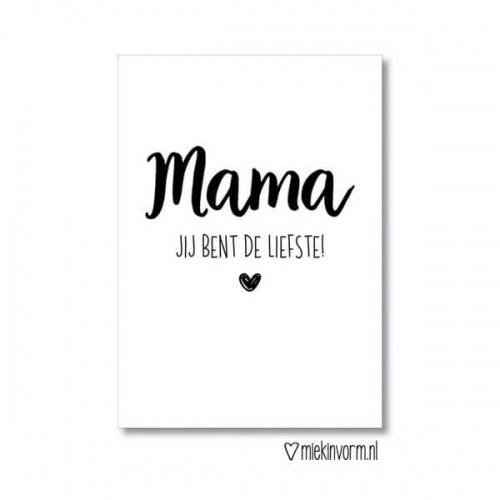 Ansichtkaart mama de liefste