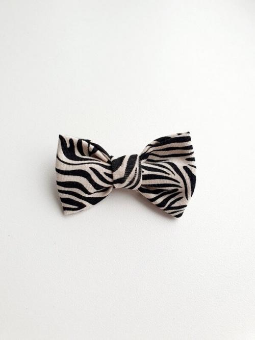 Haarspeldje handgemaakt strikje zebra