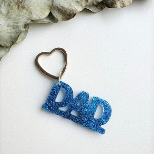 Sleutelhanger dad met hart