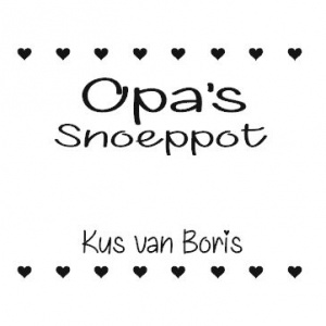 diy sticker opas snoeppot